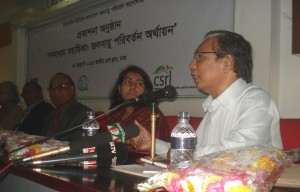 Eminent journalist Ajay Dasgupta  addressing the ceremnoy.